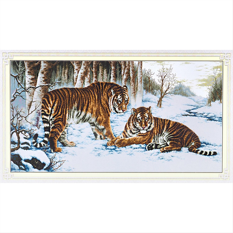 Вышивка крестом бенгальски тигр