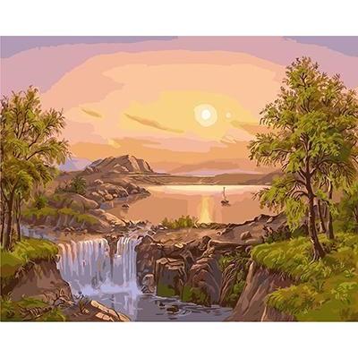 Картина по номерам GX 4216 Речная заводь 40*50 БРЕНД