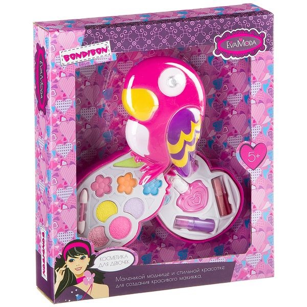7eb7b414a5b6 Подарочный набор для девочек Косметичка-попугай Bondibon EvaModa